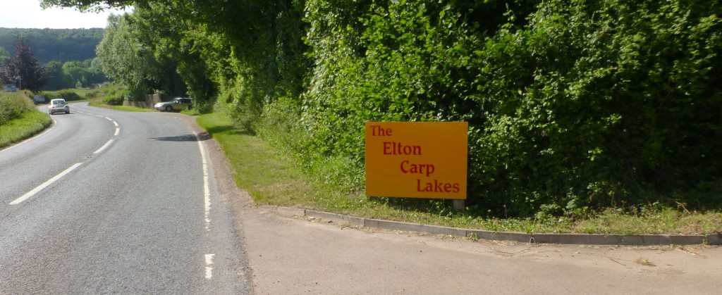 Entrance to Elton Carp Lakes