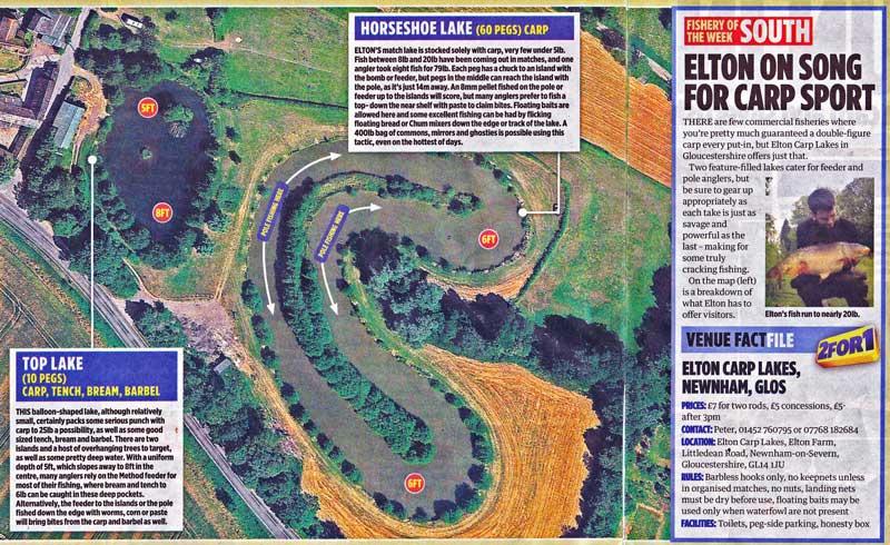 Press article on Elton Carp Lakes