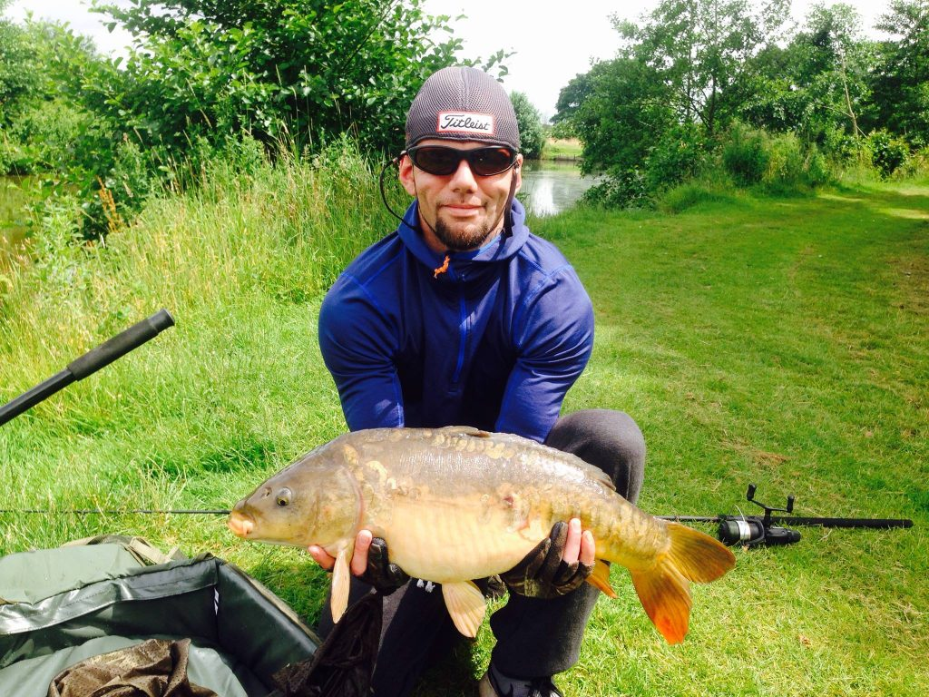 A photo George Whittaker at the Elton Carp Lakes