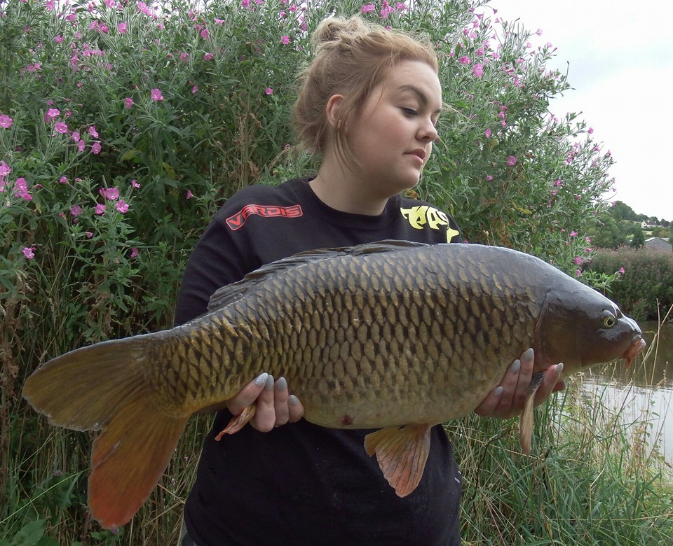 Another photo of Mark's 'Mrs' with a nice carp