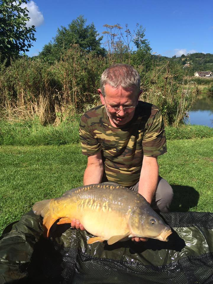Ian Barber with a 20lb 7oz carp from the Match Lake