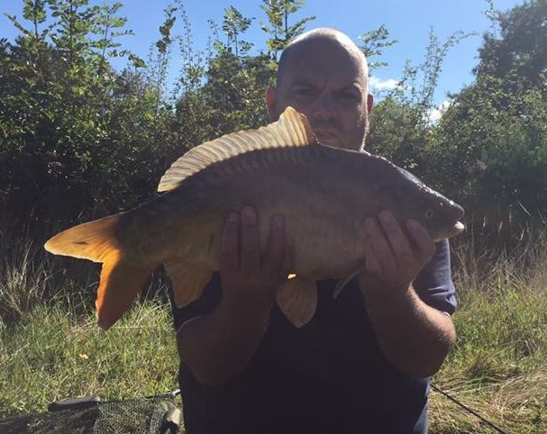 Adrian Wilden at the Elton Carp Lakes