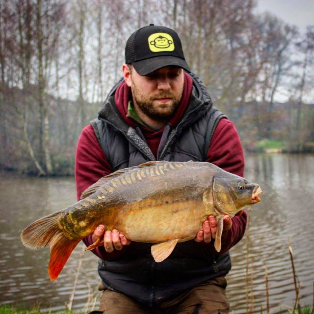 A photo of Arran with a carp